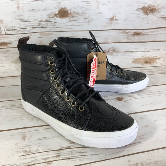 03c1d13871 Vans Boys SK-8 Hi All Weather MTE Pebble Grain NEW